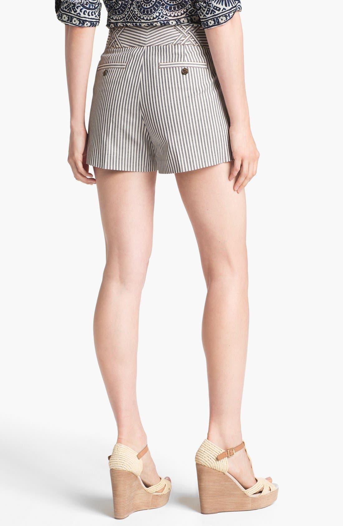 Alternate Image 2  - Tory Burch 'Sarah Jane' Stripe Shorts