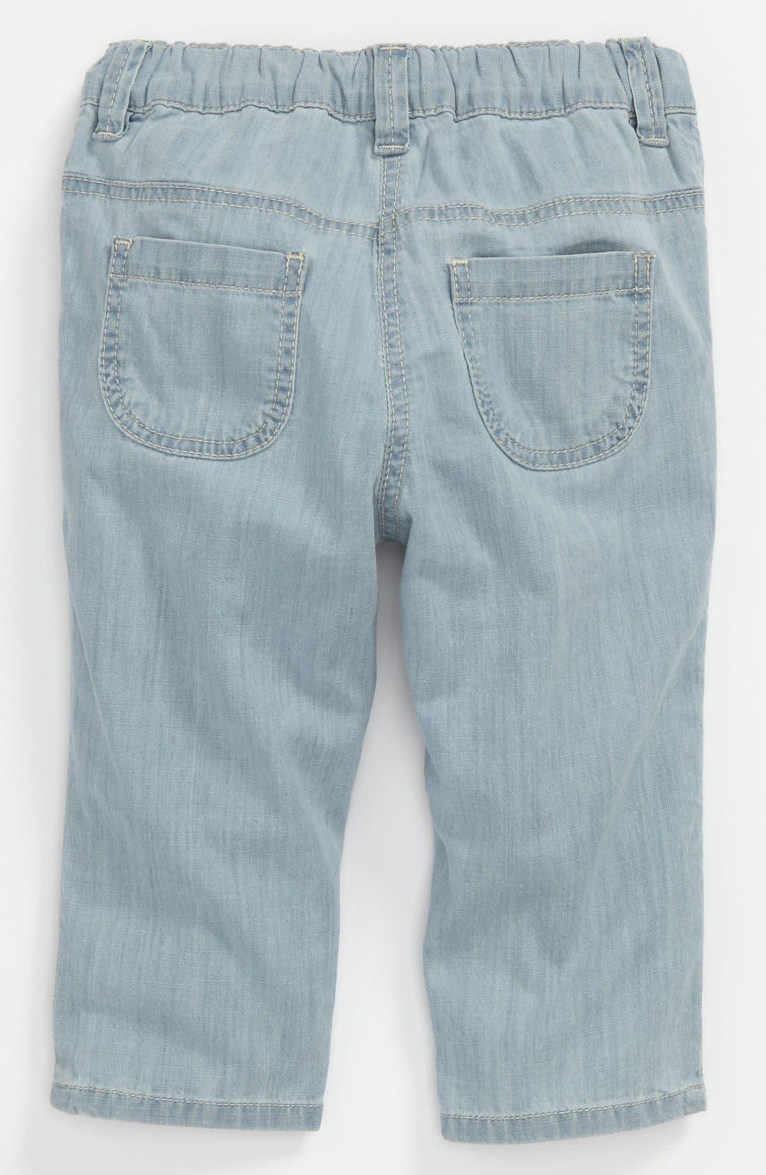 Main Image - Chloé Bleached Denim Pants (Baby)