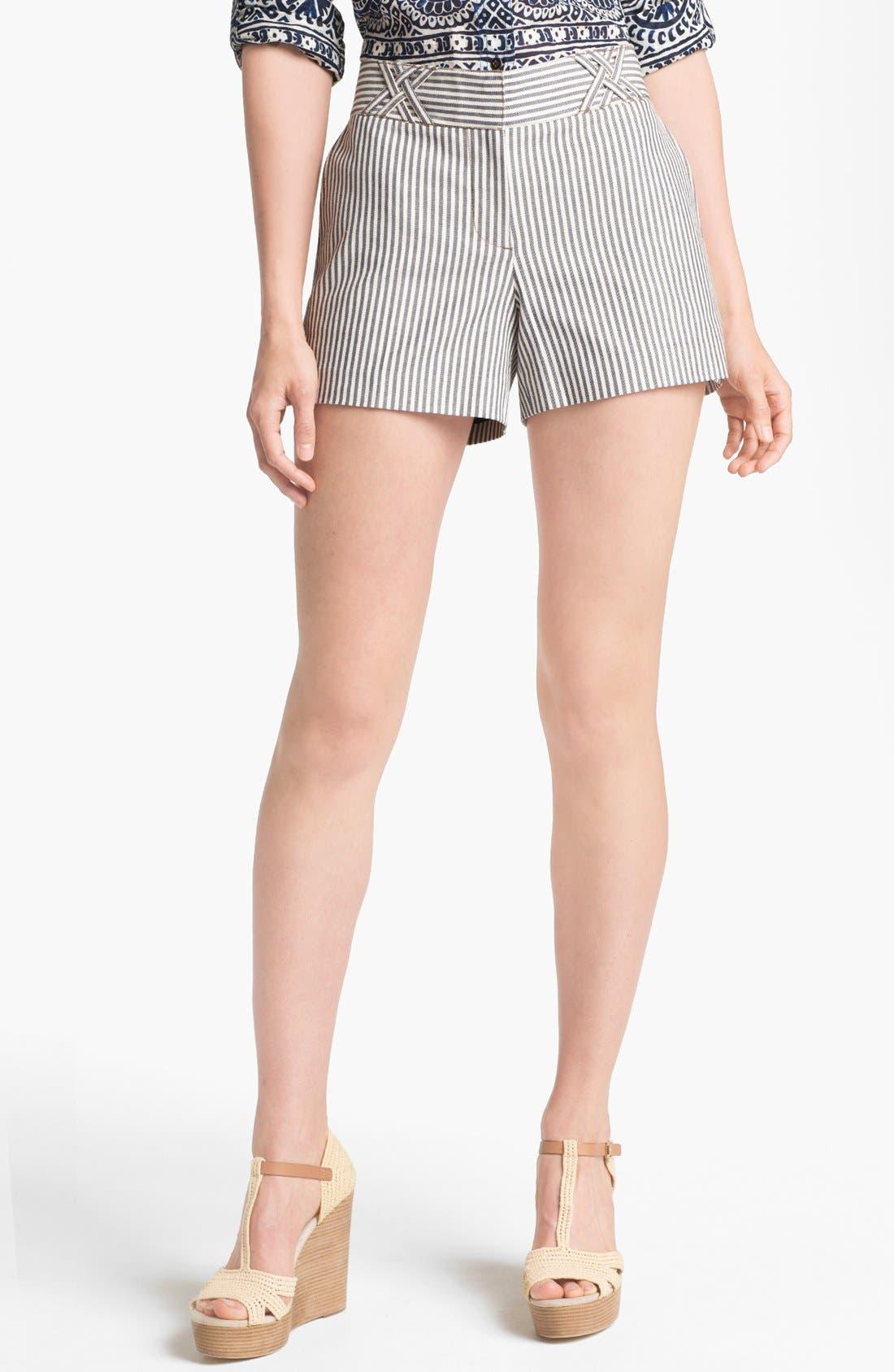Main Image - Tory Burch 'Sarah Jane' Stripe Shorts