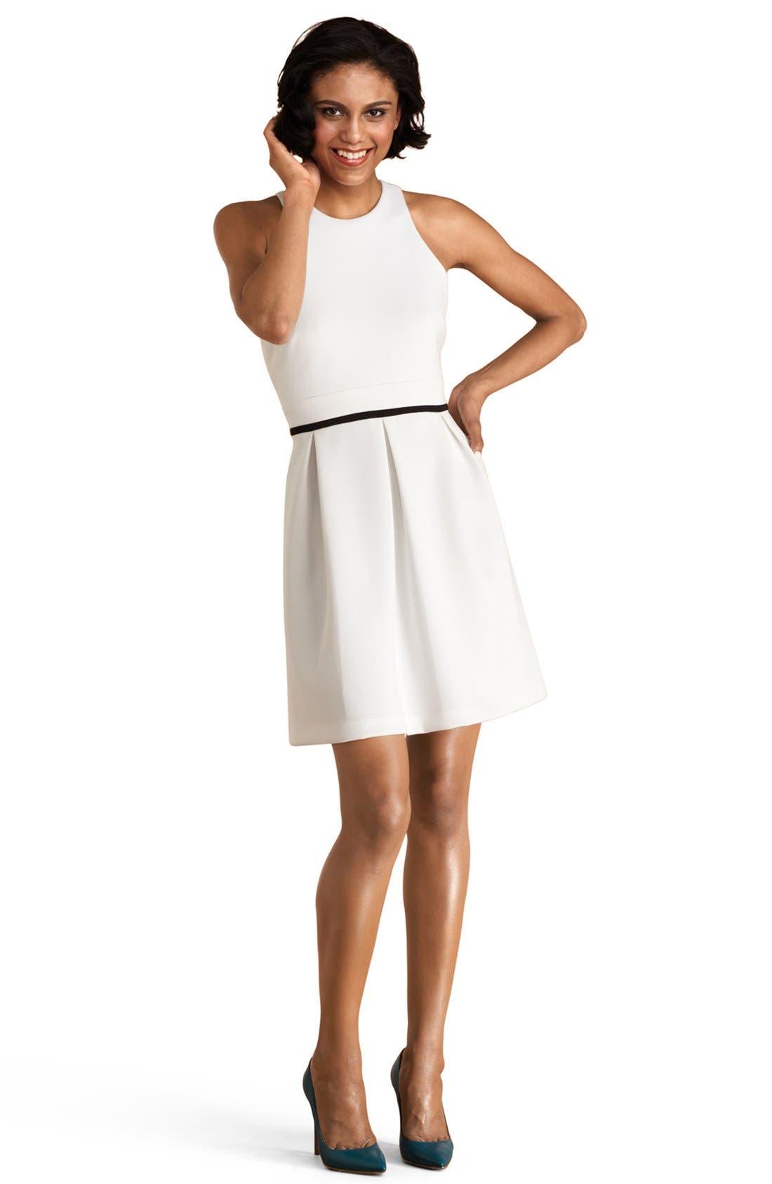 Main Image - Donna Morgan Back Cutout Fit & Flare Dress