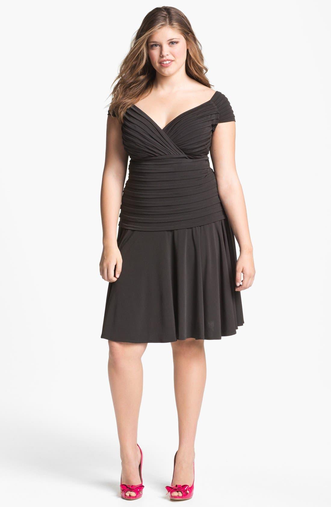 Alternate Image 1 Selected - London Times Drop Waist Jersey Dress (Plus)