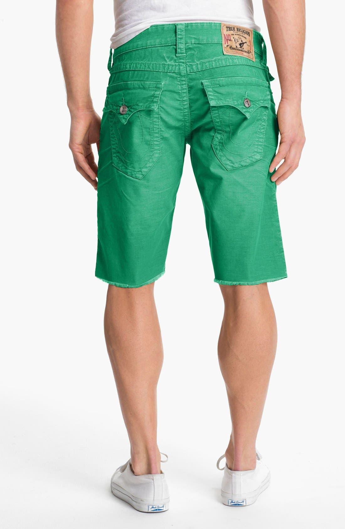 Alternate Image 2  - True Religion Brand Jeans 'Ricky' Cutoff Corduroy Shorts