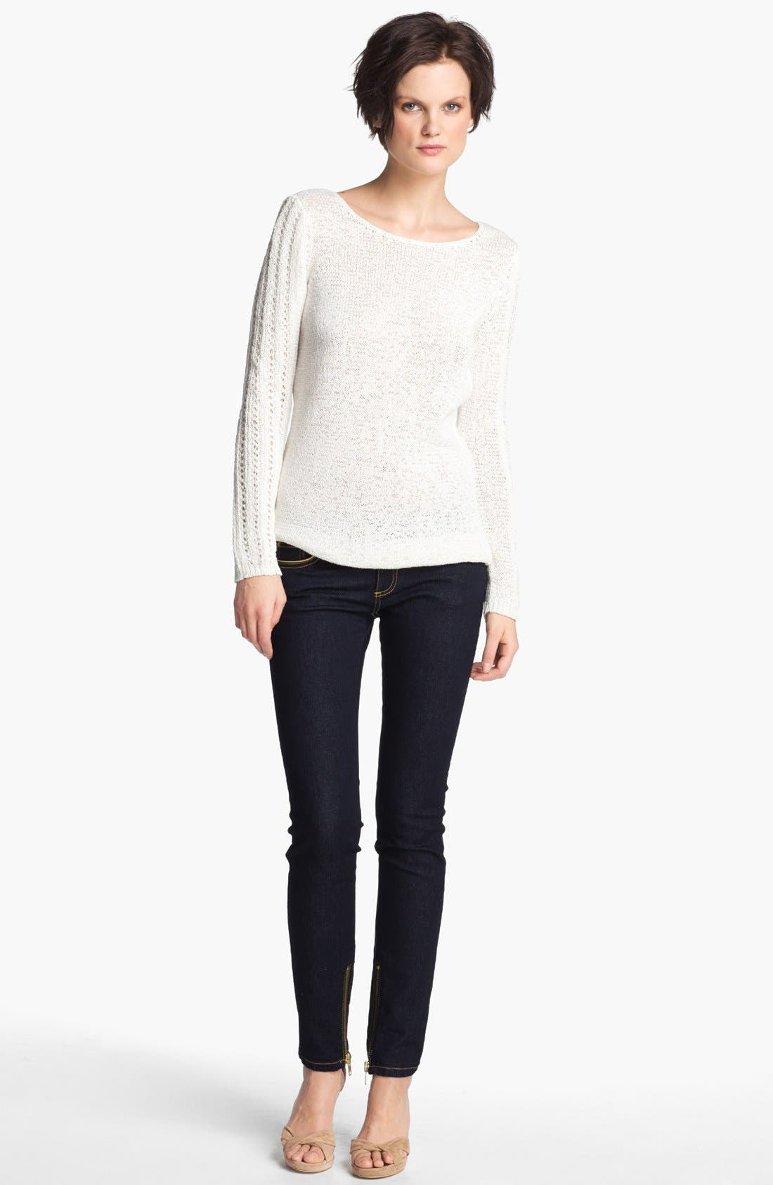 Main Image - Rachel Zoe 'Karla' Open Stitch Tunic Sweater