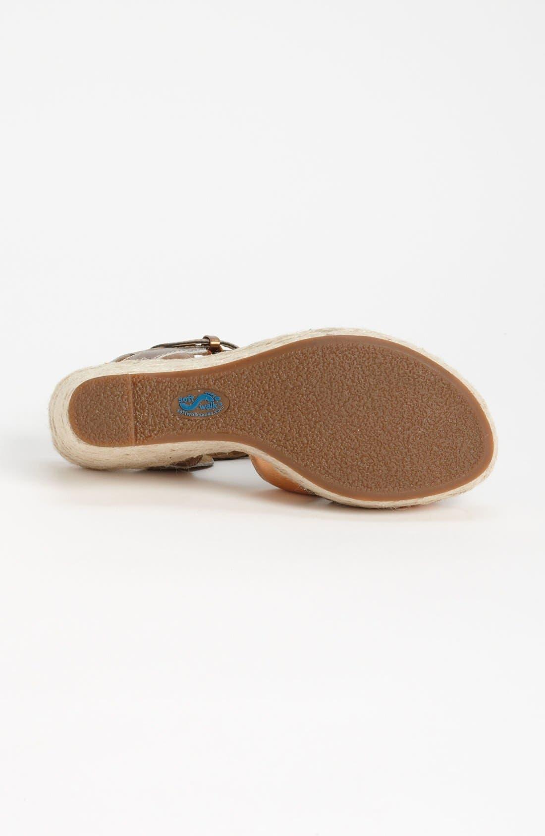 Alternate Image 4  - SoftWalk® 'St. Helena' Wedge Sandal