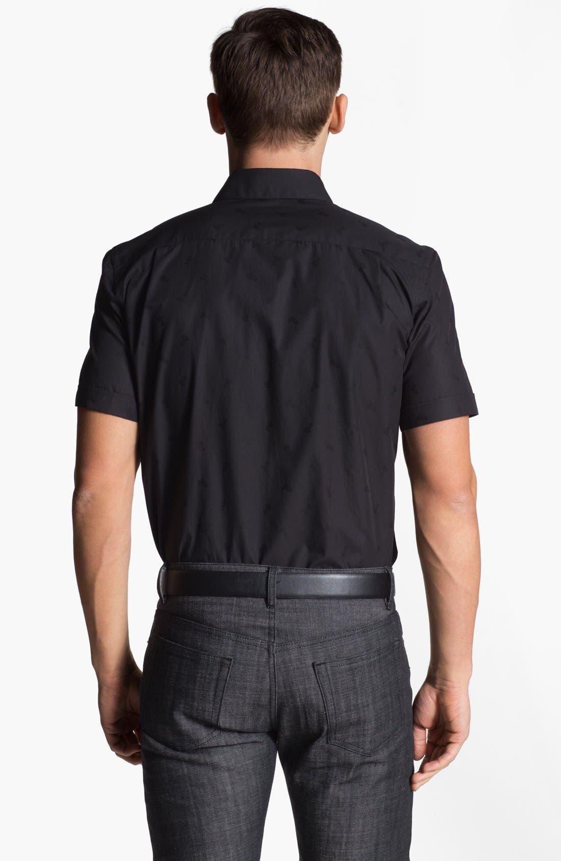 Alternate Image 2  - Versace Medusa Logo Print Woven Shirt