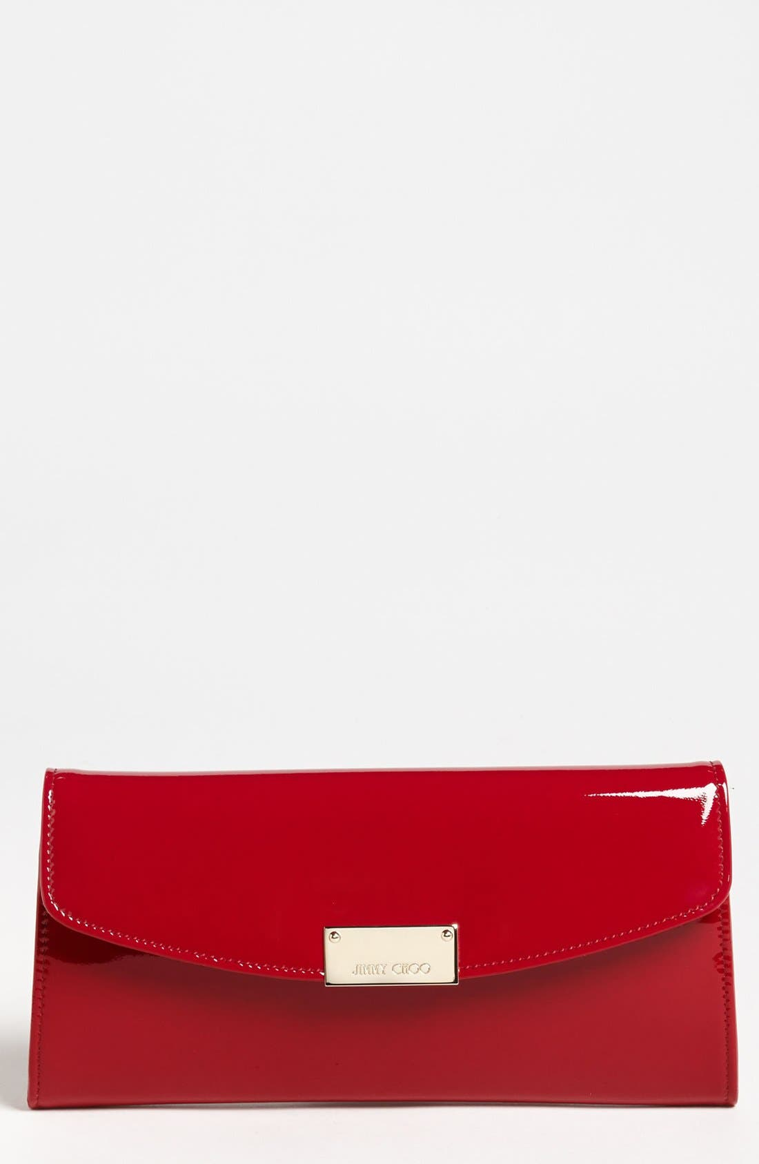 Alternate Image 1 Selected - Jimmy Choo 'Riane' Patent Leather Clutch