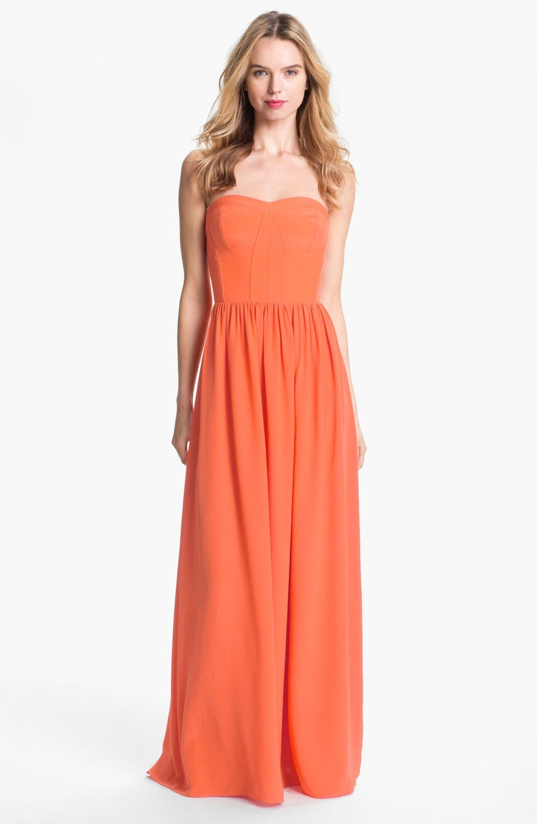 Alternate Image 1 Selected - Rebecca Taylor Silk Gown