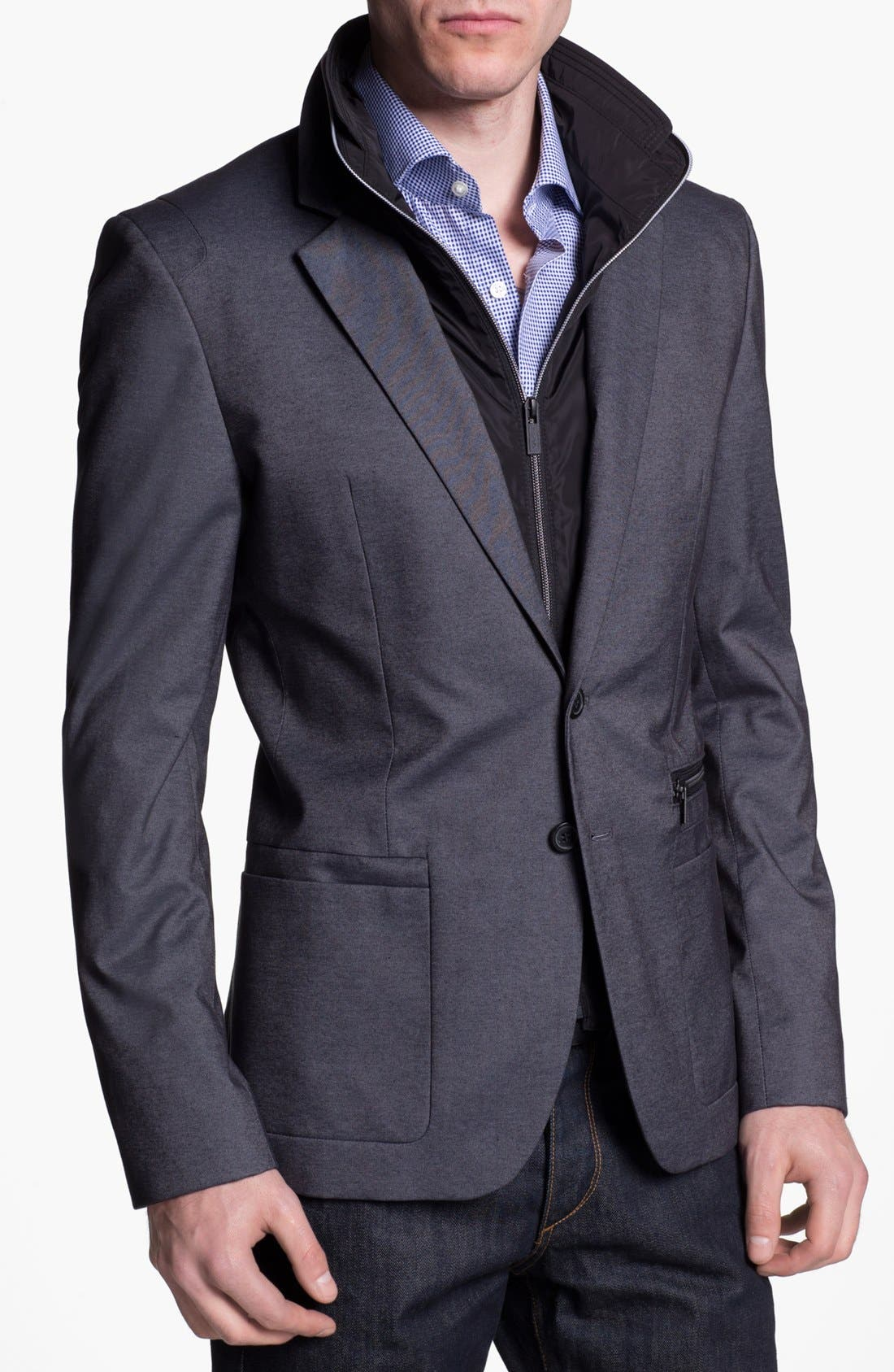 Main Image - HUGO 'Alinos' Extra Trim Fit Sportcoat