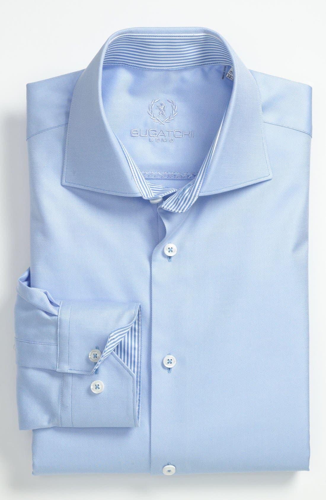 Main Image - Bugatchi Trim Fit Dress Shirt