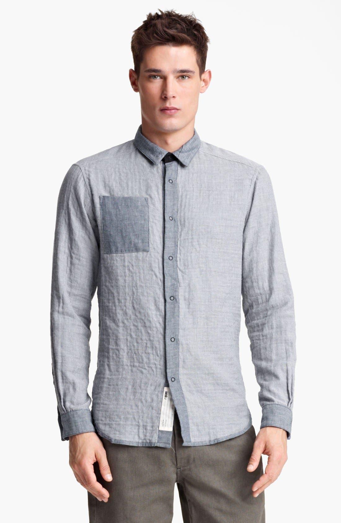 Main Image - Rogan 'Insidoud' Reversible Chambray Shirt