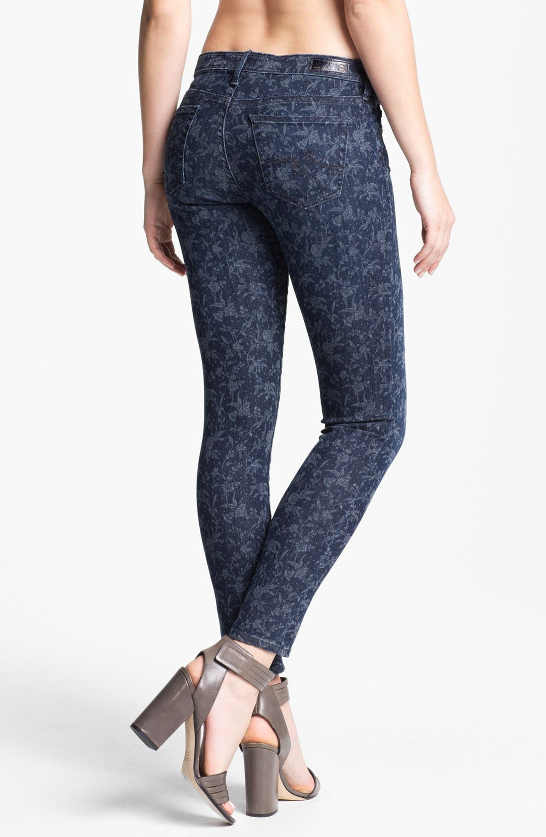 Alternate Image 2  - AG Jeans 'Liberty of London' Print Denim Ankle Legging (Denim Hyde)