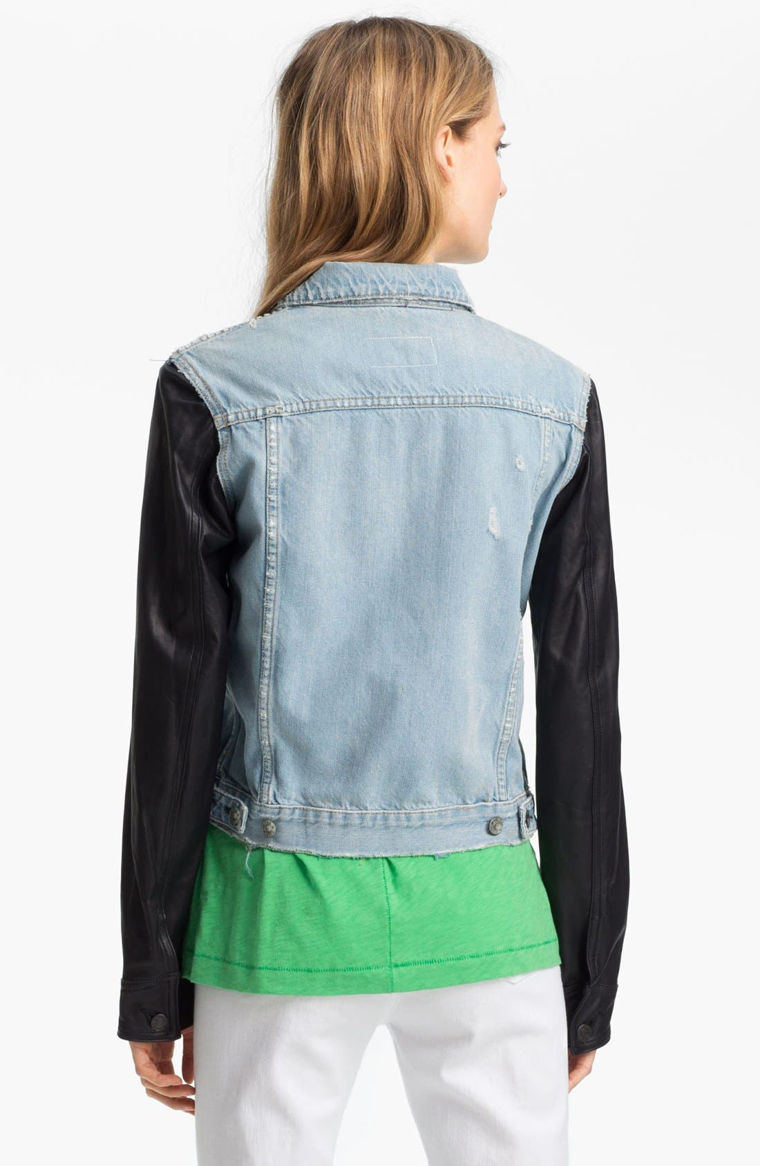 Alternate Image 3  - rag & bone/JEAN Leather & Denim Jacket