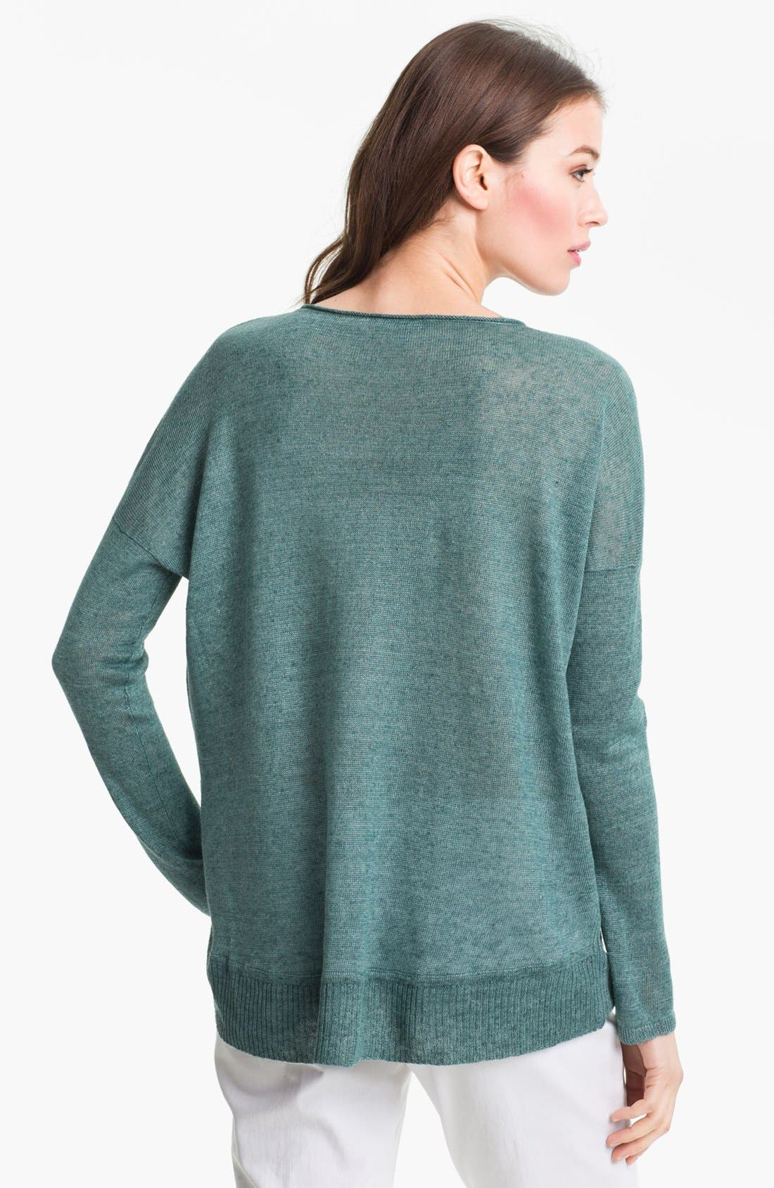 Alternate Image 2  - Eileen Fisher 'Delave' Linen V-Neck Sweater