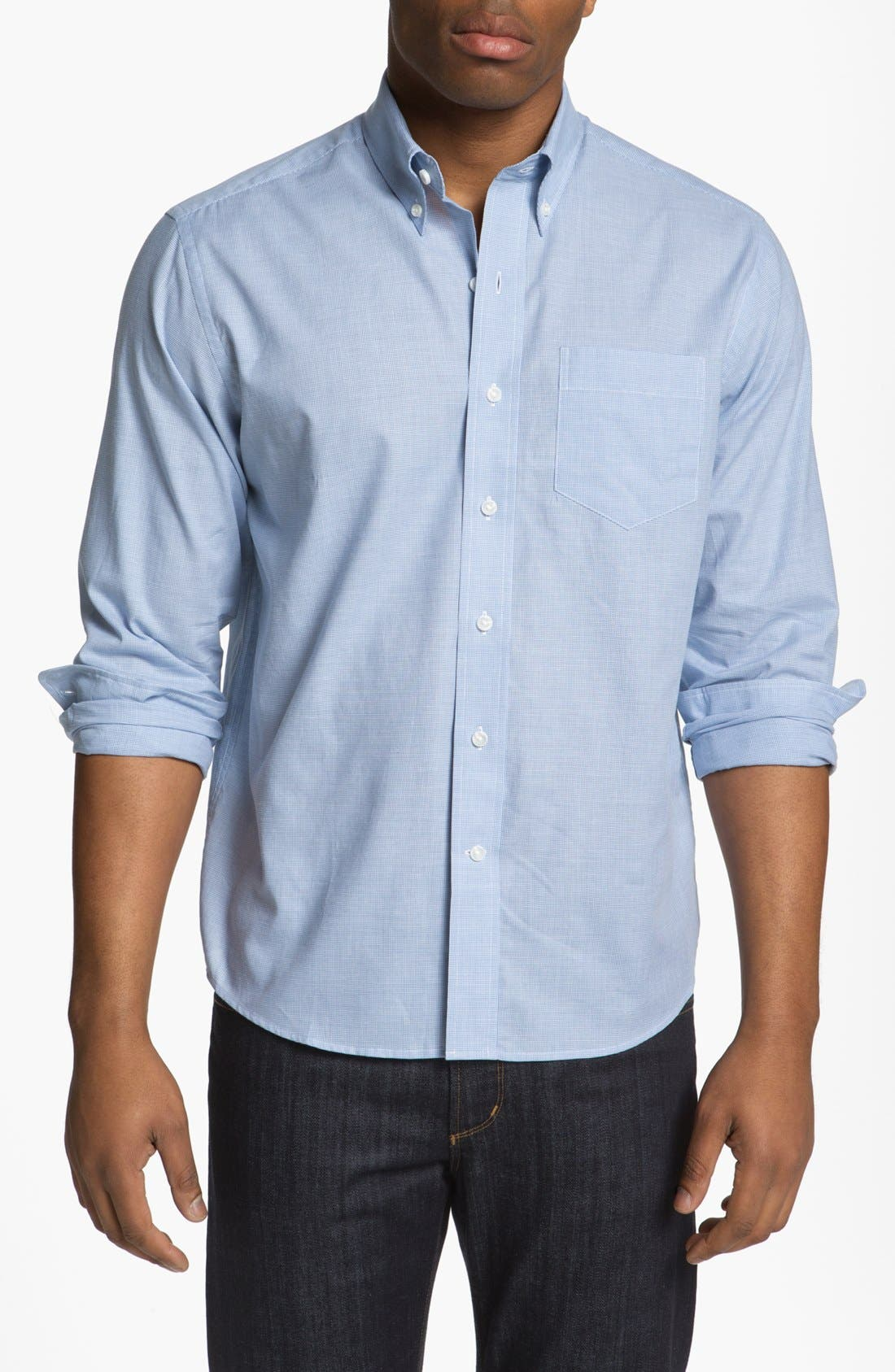 Main Image - Cutter & Buck 'Lasell' Regular Fit Sport Shirt (Big & Tall)