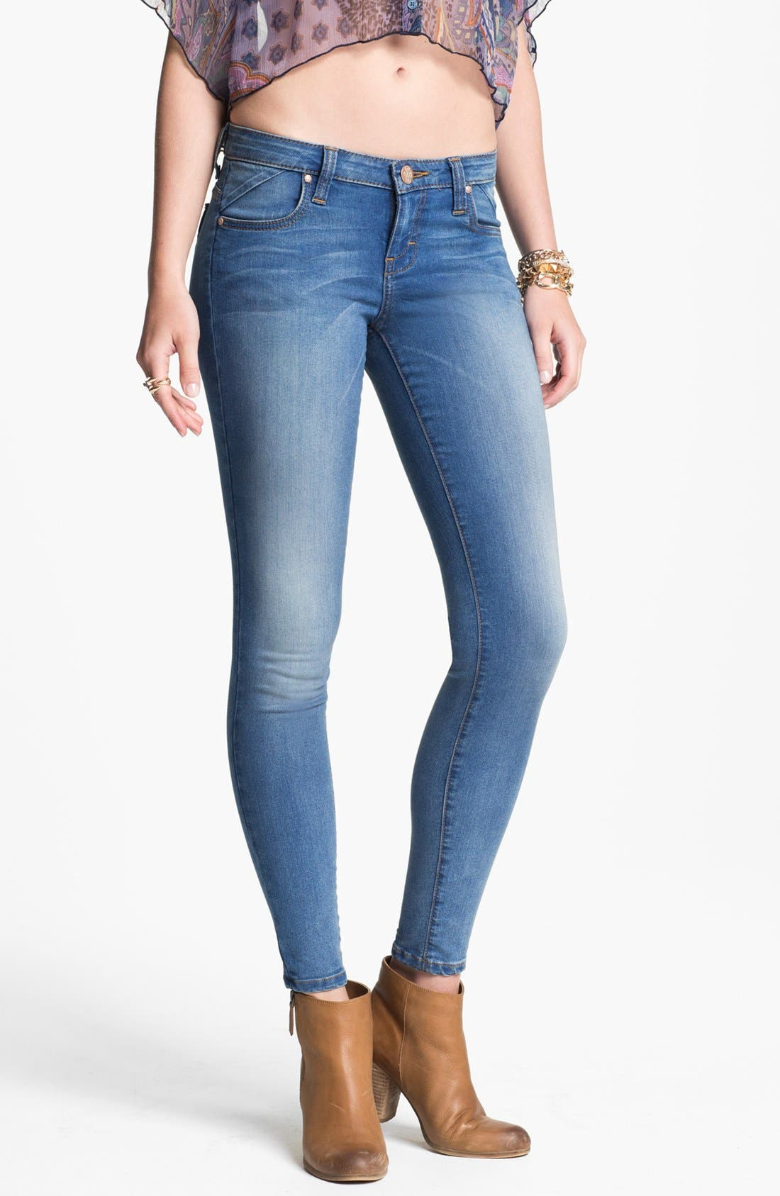 Alternate Image 1 Selected - STS Blue 'Santiago Bay' Skinny Jeans (Medium) (Juniors)