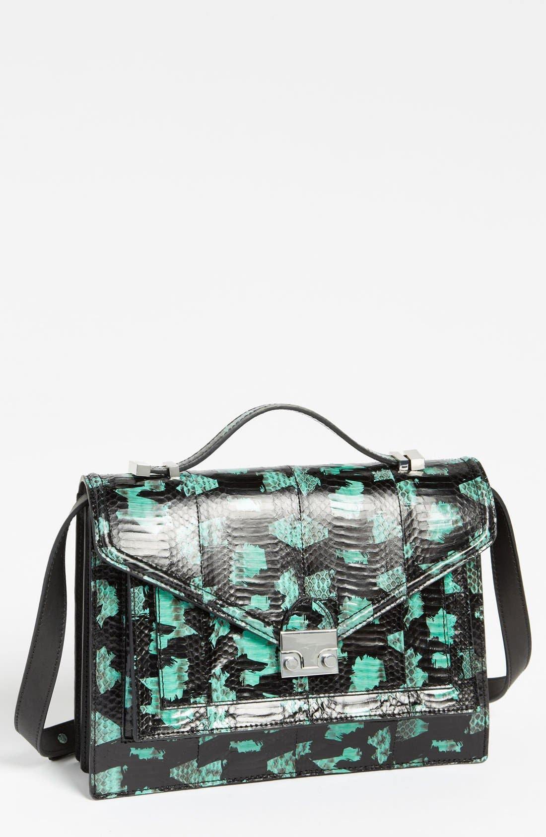 Alternate Image 1 Selected - Loeffler Randall 'Rider' Genuine Snakeskin Satchel