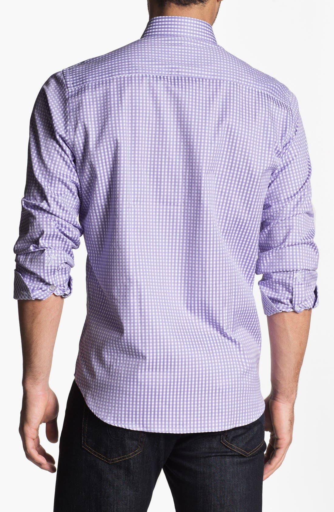 Alternate Image 3  - Bugatchi Gingham Classic Fit Cotton Sport Shirt