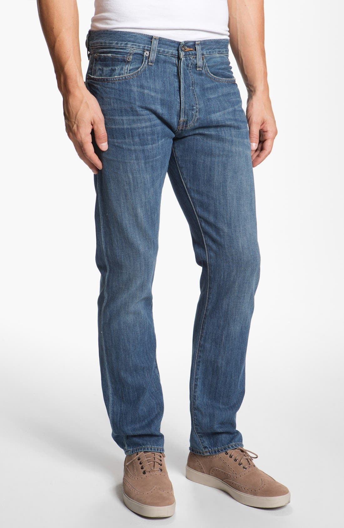 Alternate Image 1 Selected - Lucky Brand '121 Heritage' Slim Straight Leg Jeans (Conejo)