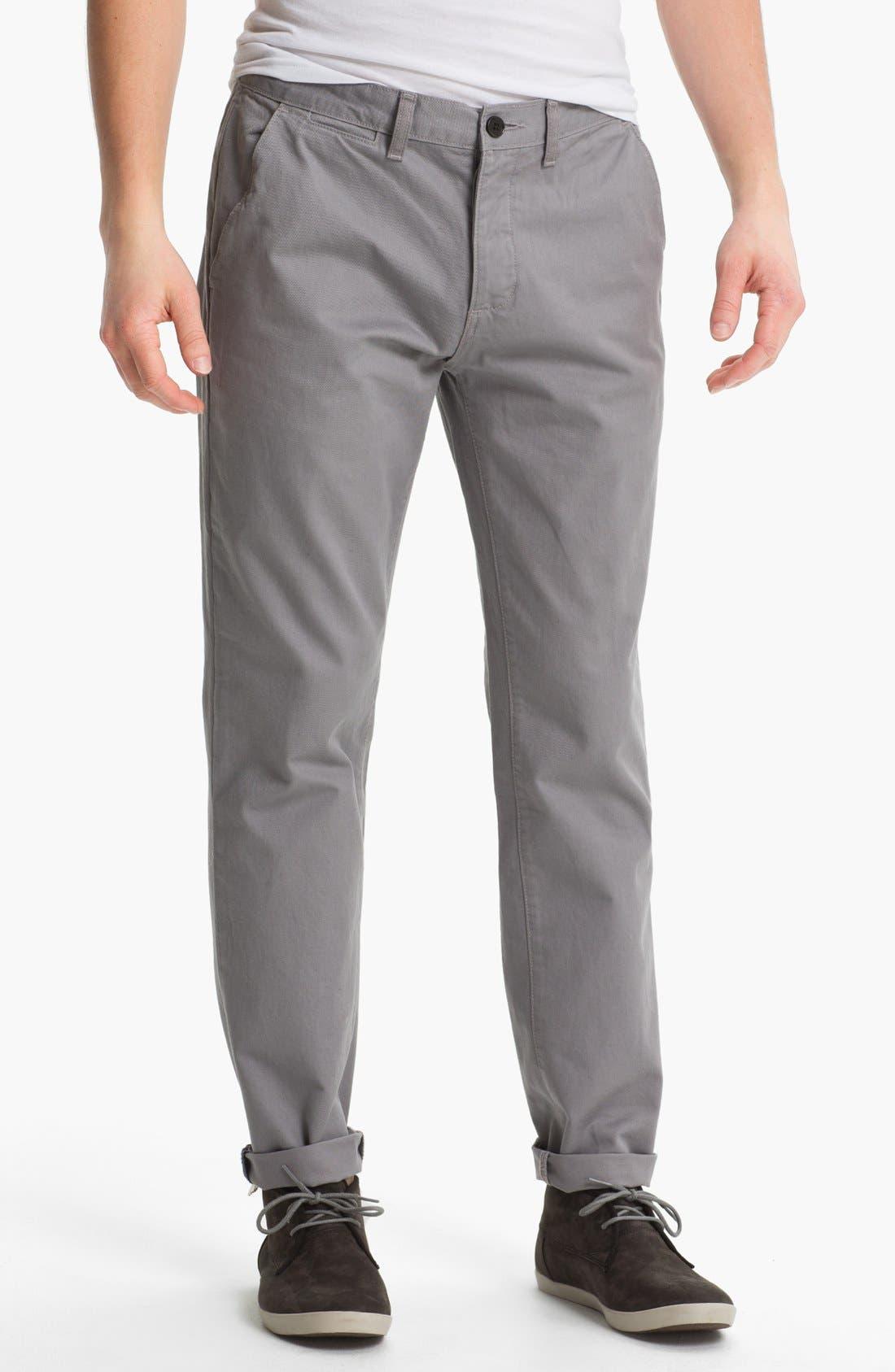 Alternate Image 1 Selected - Topman Slim Straight Leg Chinos