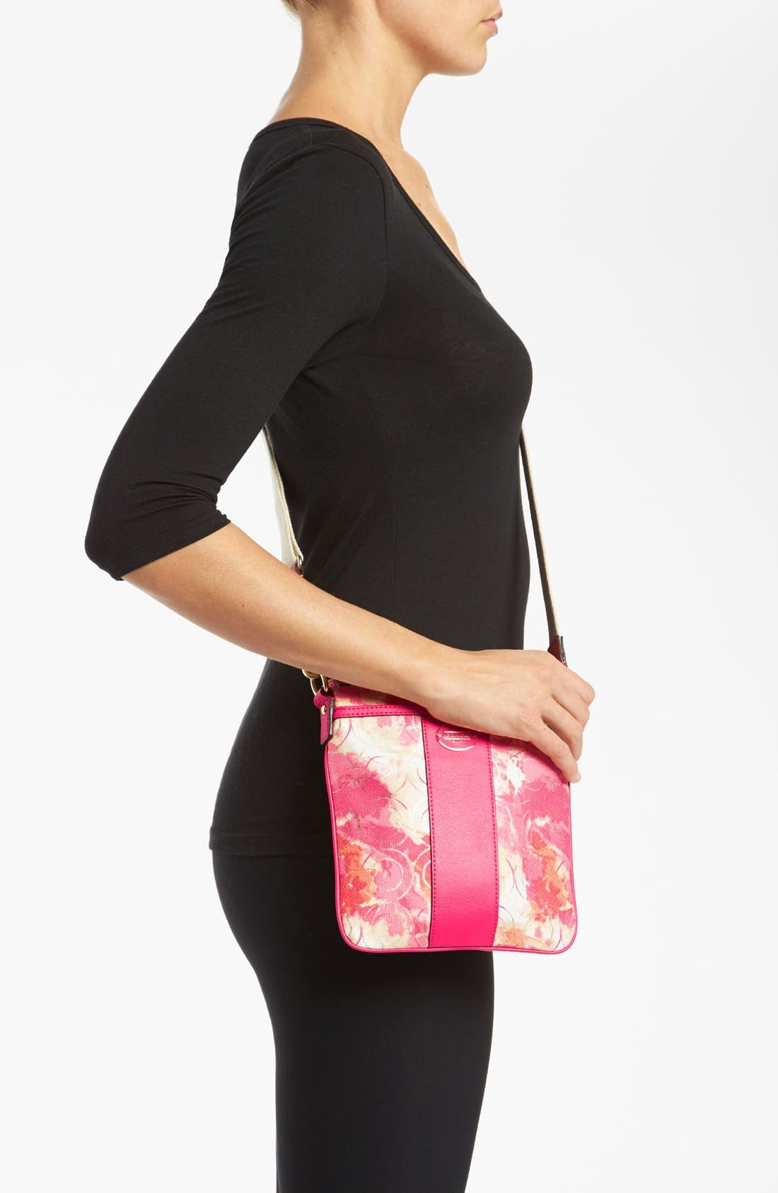 Alternate Image 2  - COACH 'Swingpack' Floral Print Crossbody Bag