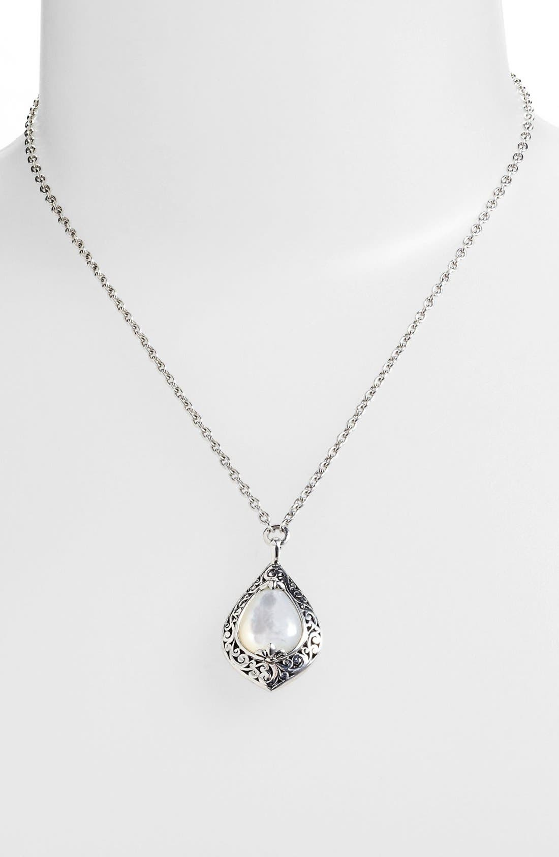 Alternate Image 1 Selected - Lois Hill Medium Mother-of-Pearl Teardrop Pendant Necklace