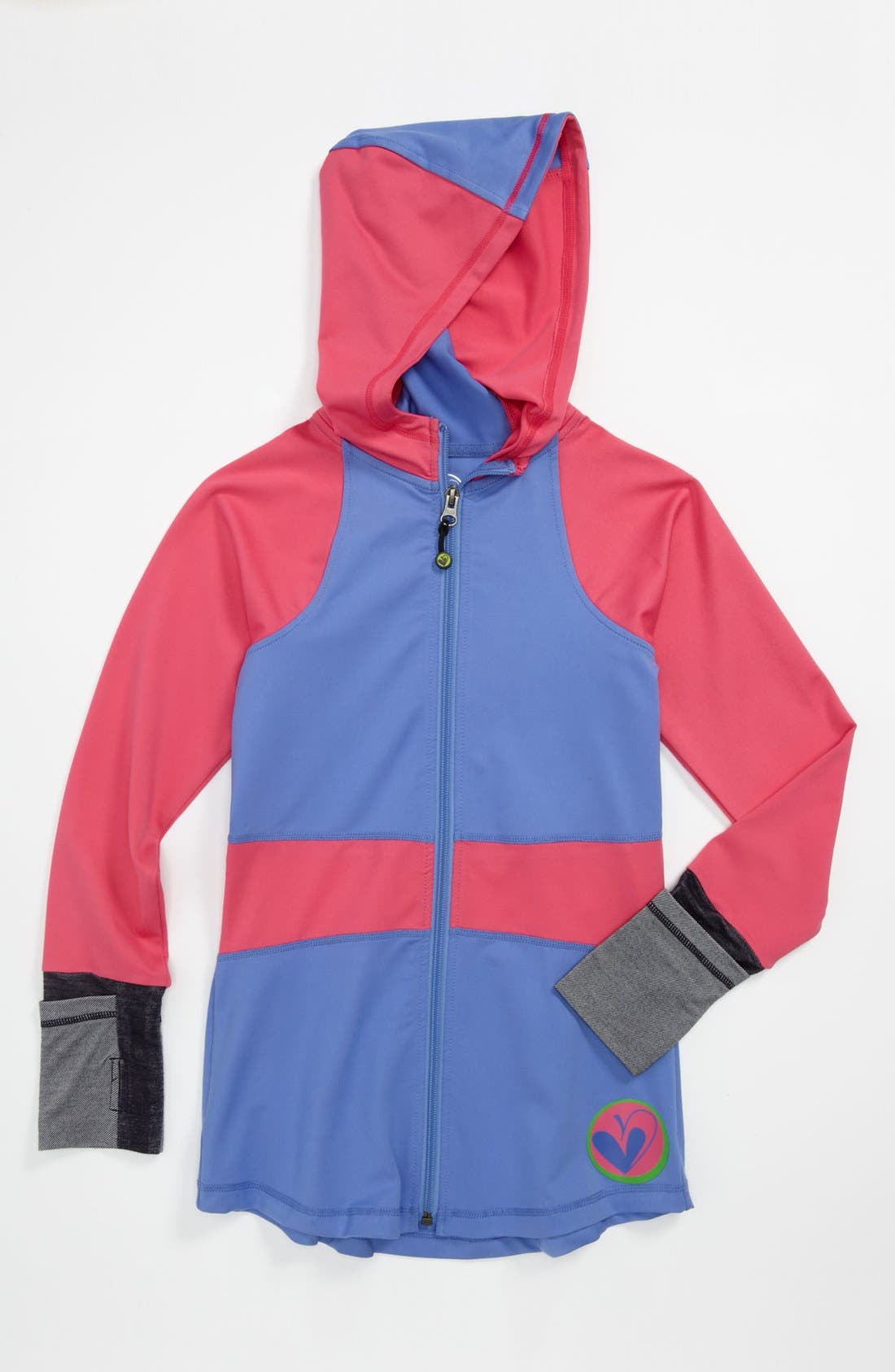 Alternate Image 1 Selected - Limeapple Colorblock Jacket (Little Girls & Big Girls)