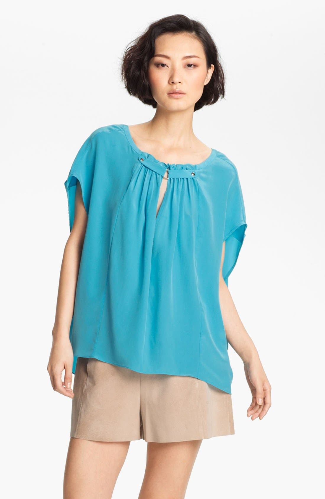 Alternate Image 2  - Tracy Reese Silk Peasant Blouse
