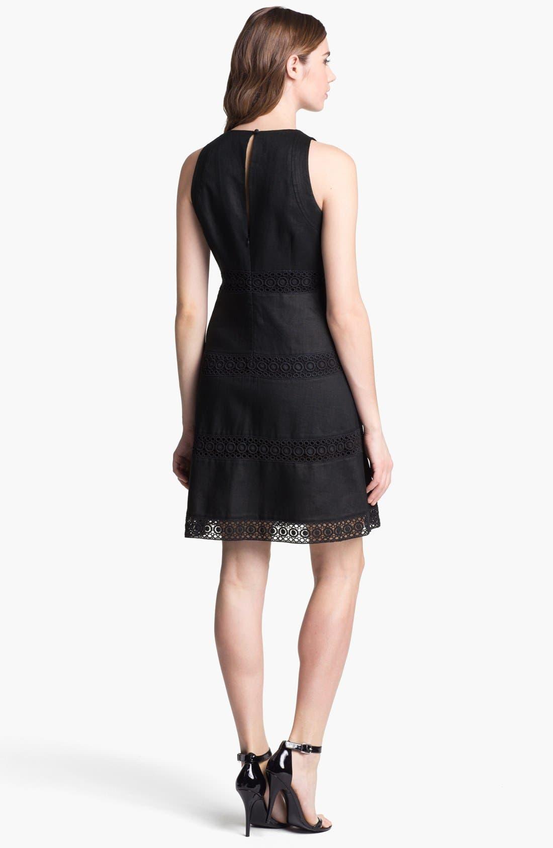 Alternate Image 2  - Laundry by Shelli Segal Linen Fit & Flare Dress