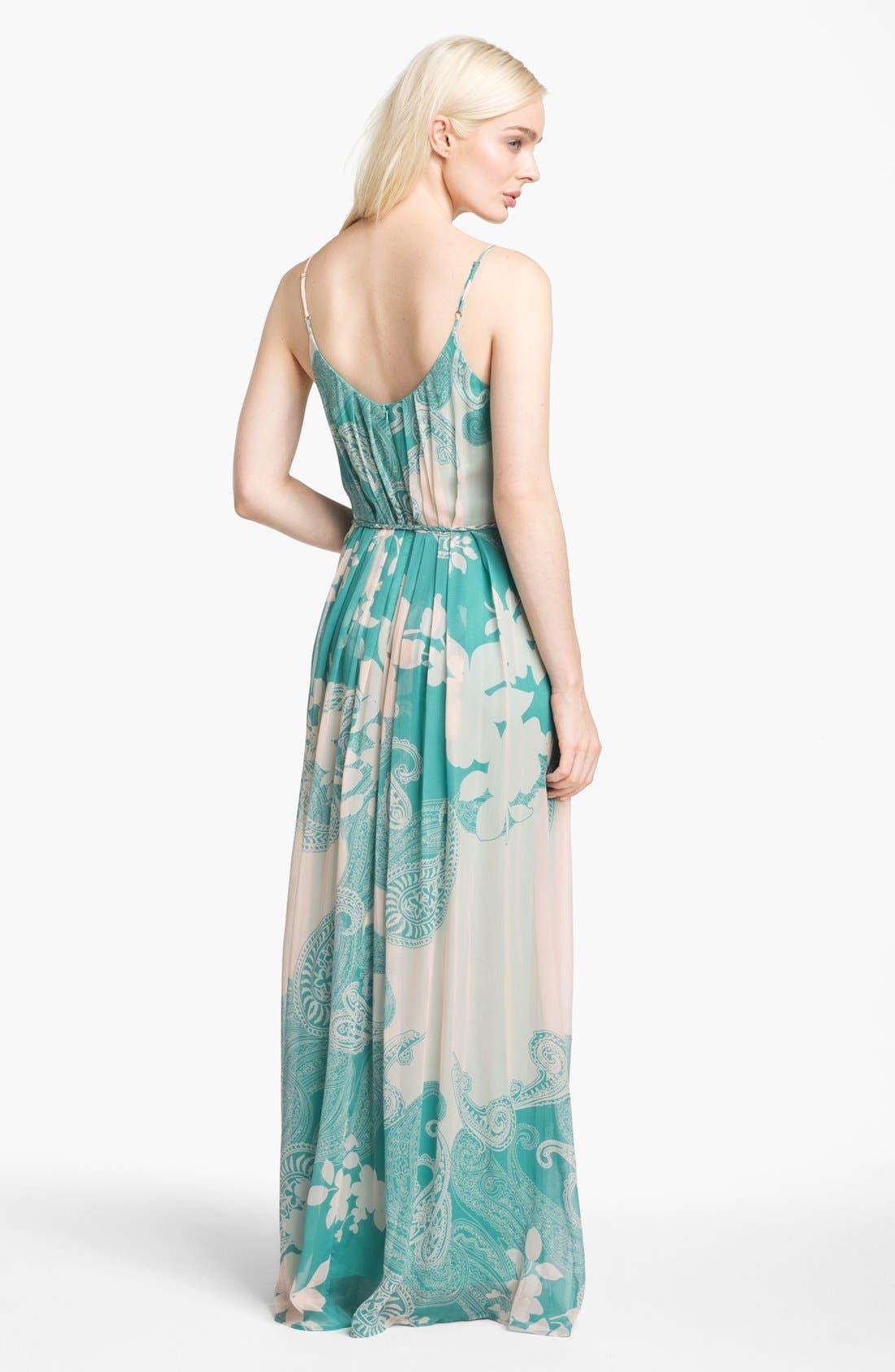 Alternate Image 2  - Presley Skye Print Silk Chiffon Maxi Dress