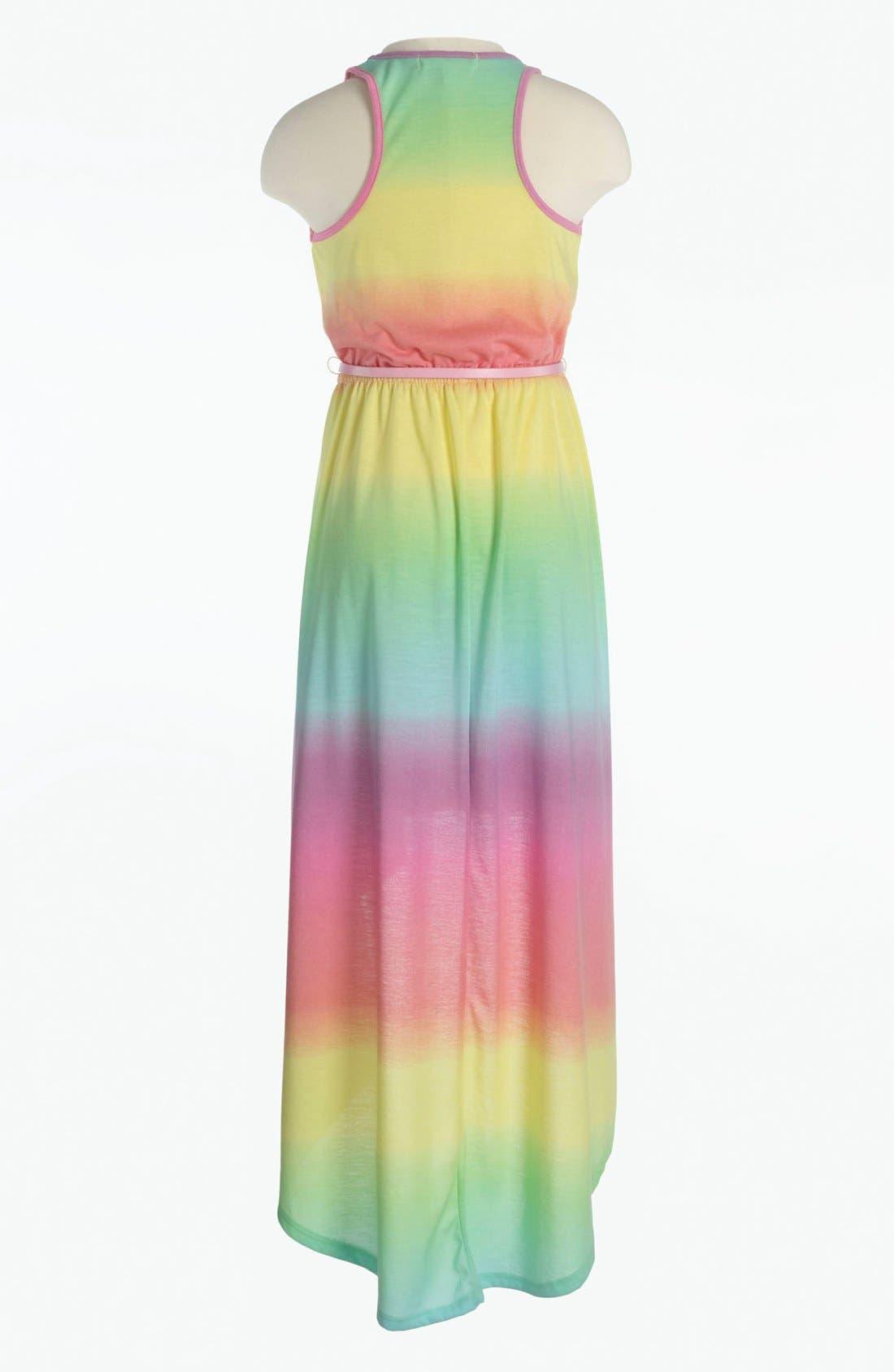 Alternate Image 2  - Fire Tie Dye Dress (Little Girls & Big Girls)