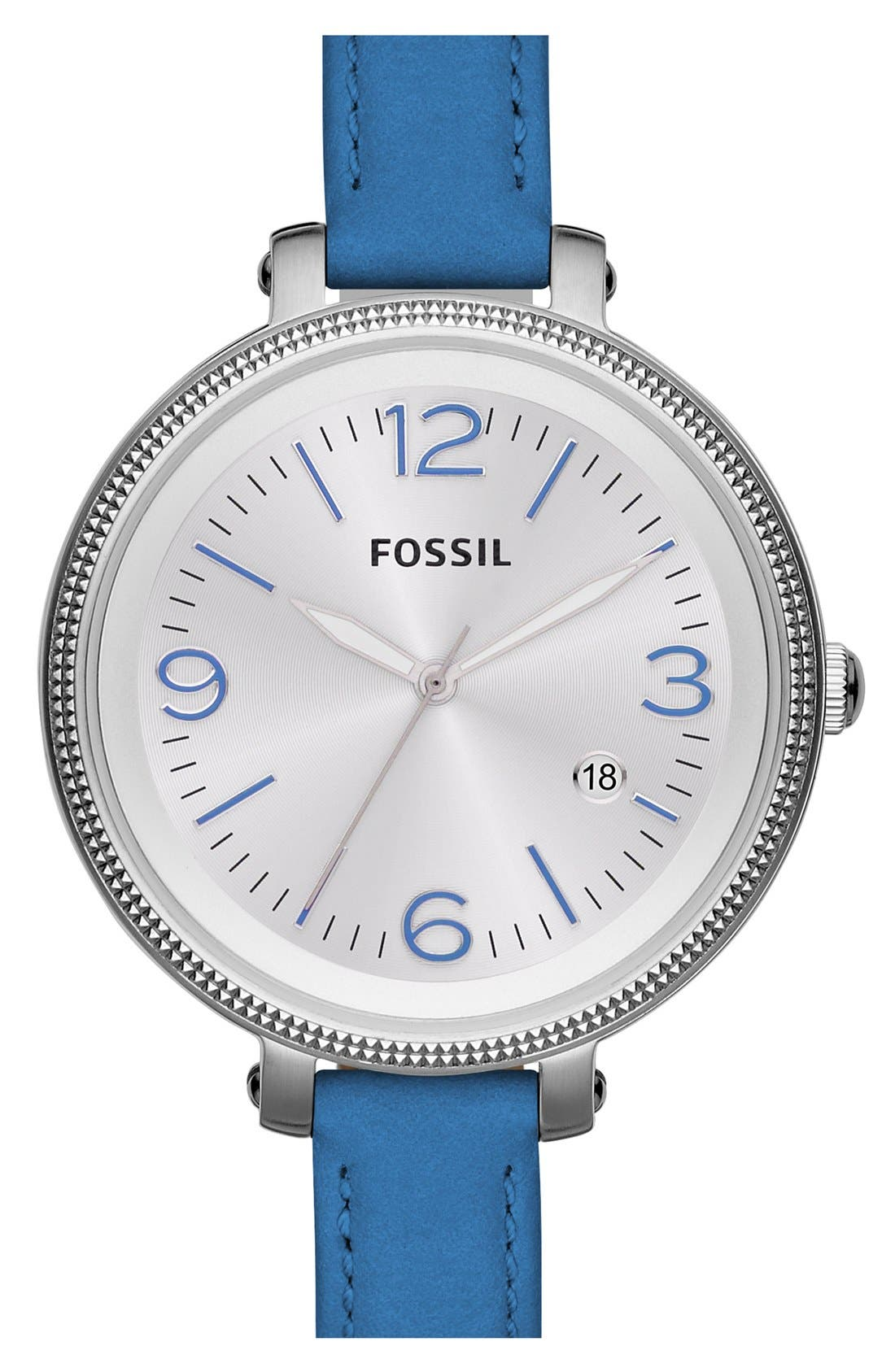 Main Image - Fossil 'Heather' Color Accent Watch, 42mm
