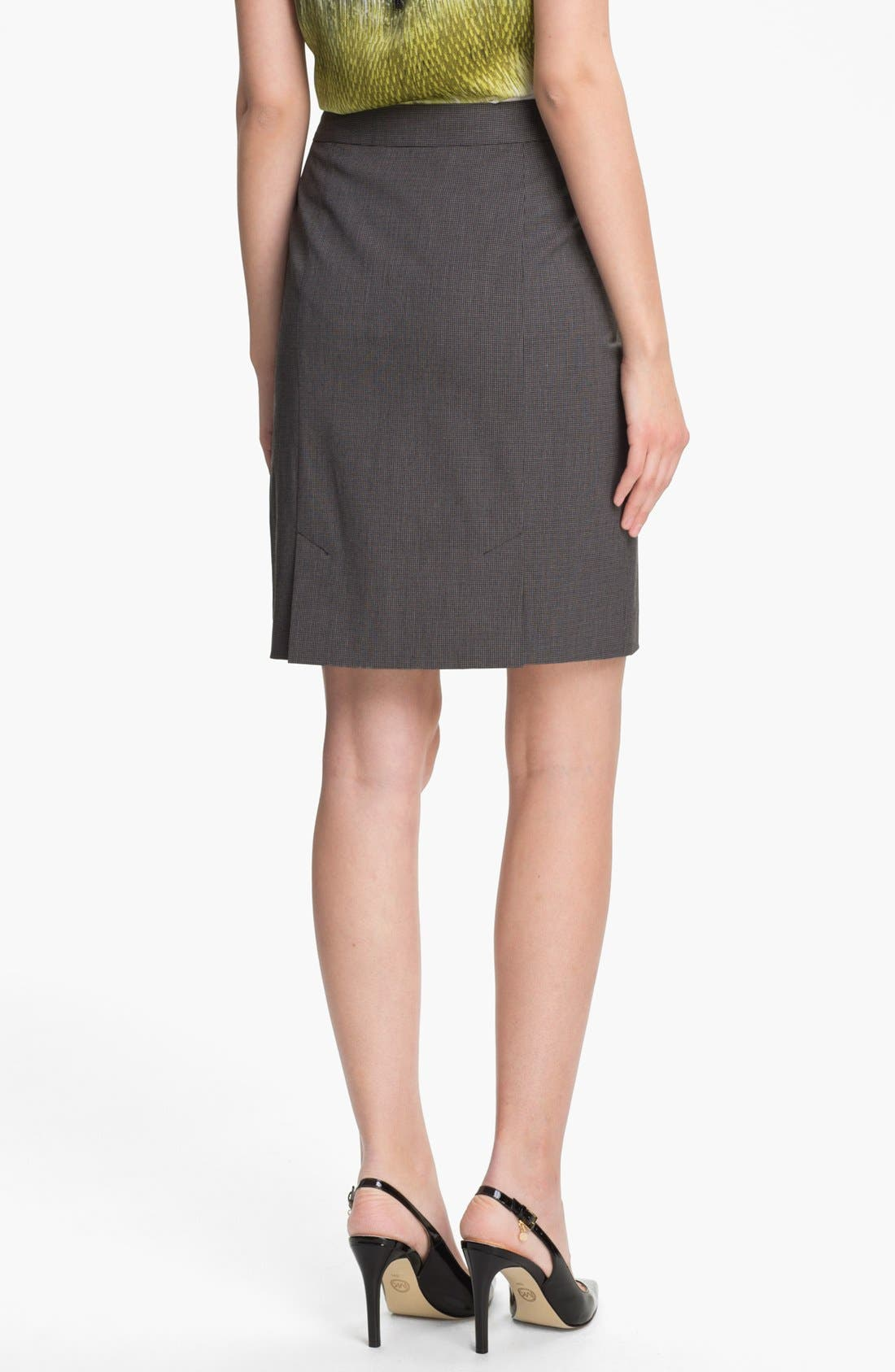 Alternate Image 2  - Halogen® Mini Check Skirt (Petite)