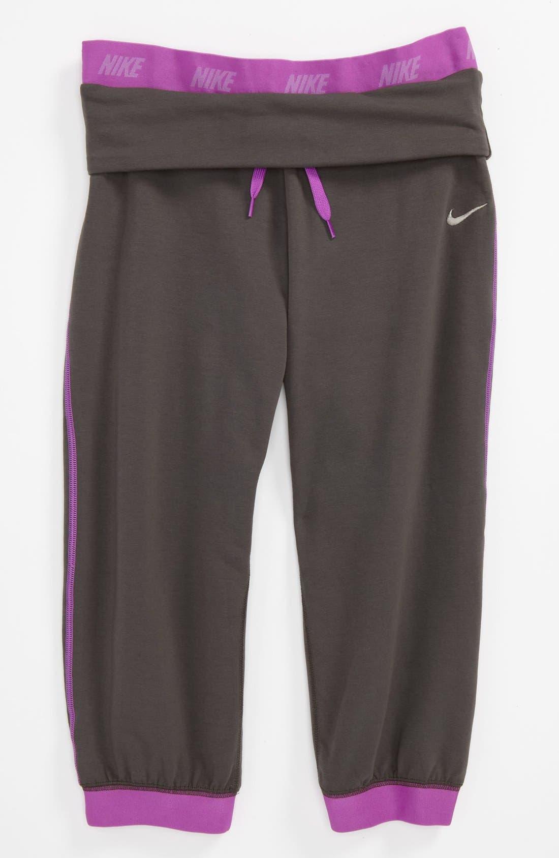 Alternate Image 1 Selected - Nike 'Victory' Capri Pants (Big Girls)
