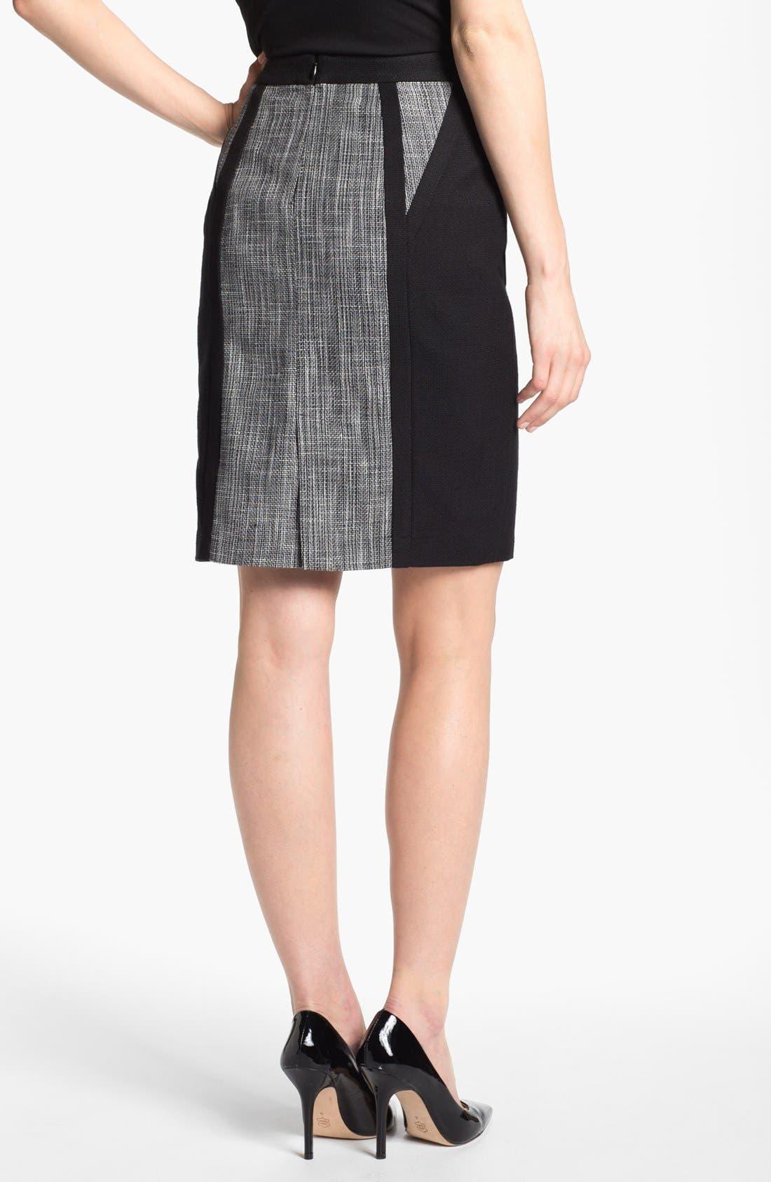 Alternate Image 2  - Calvin Klein Mixed Media Skirt