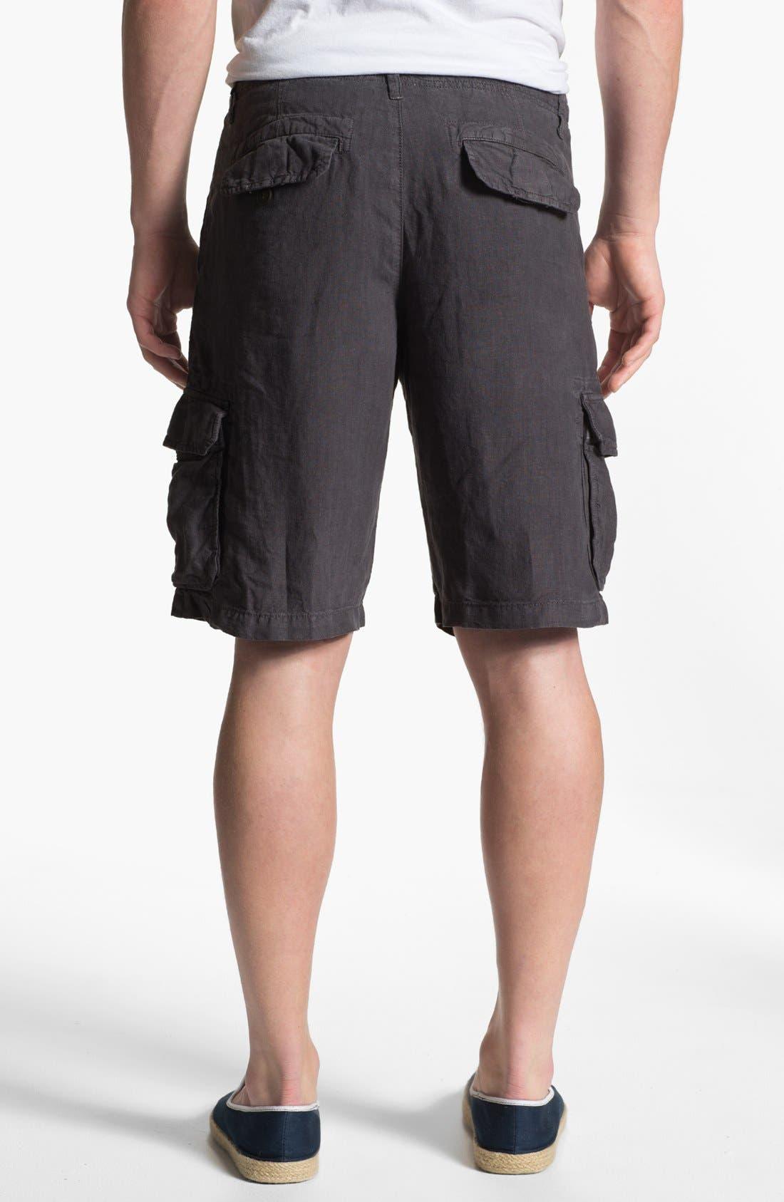 Alternate Image 2  - Lucky Brand 'Long Beach' Linen Cargo Shorts