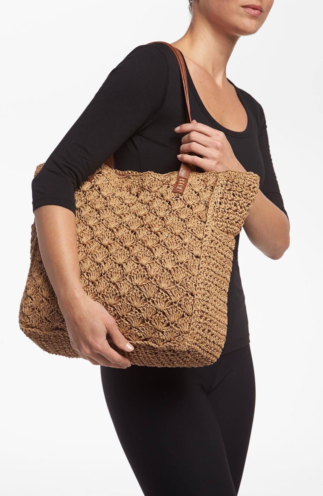 Alternate Image 2  - Straw Studios Crochet Tote