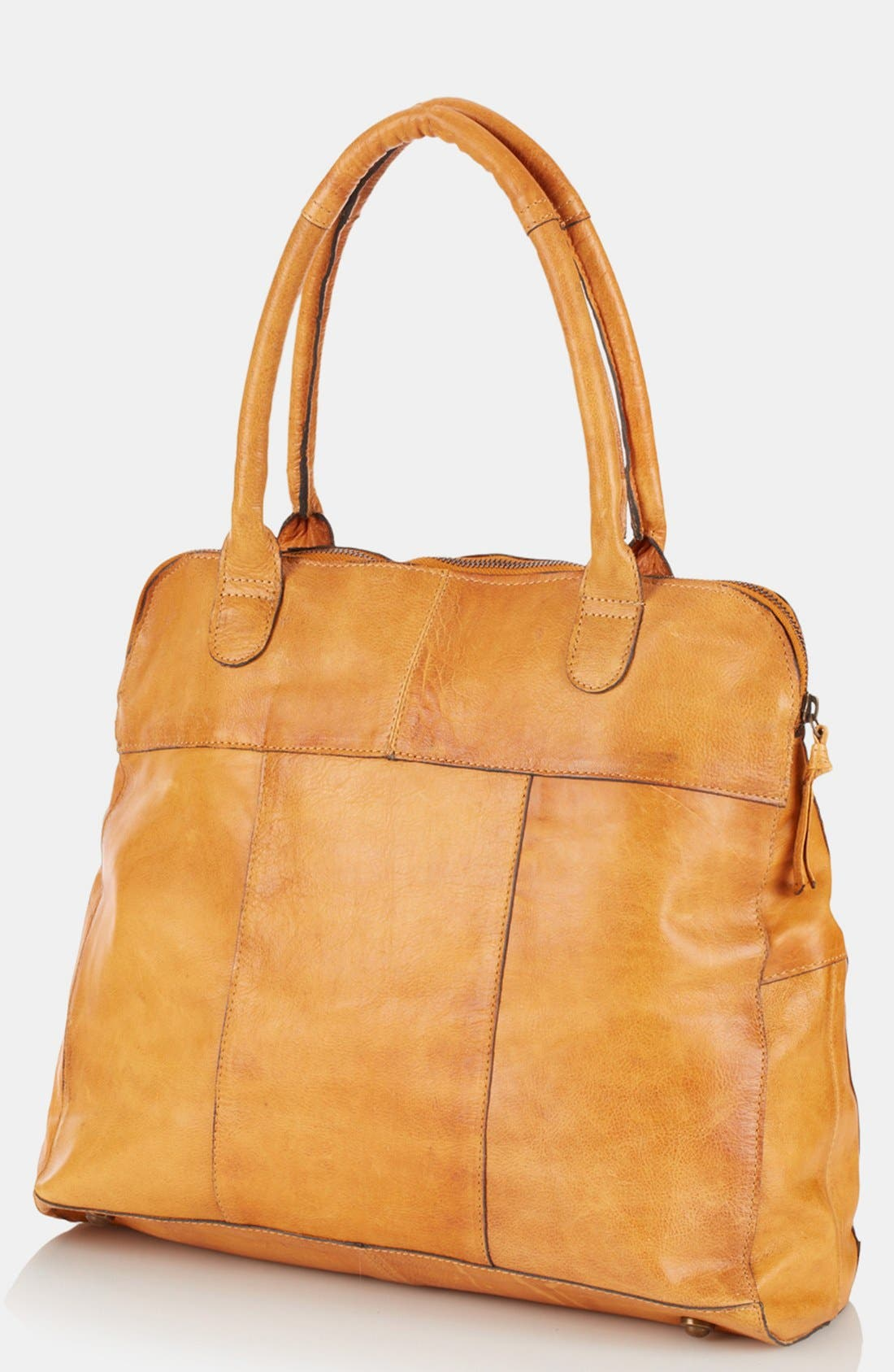 Alternate Image 1 Selected - Topshop 'Triangle Lock' Leather Satchel