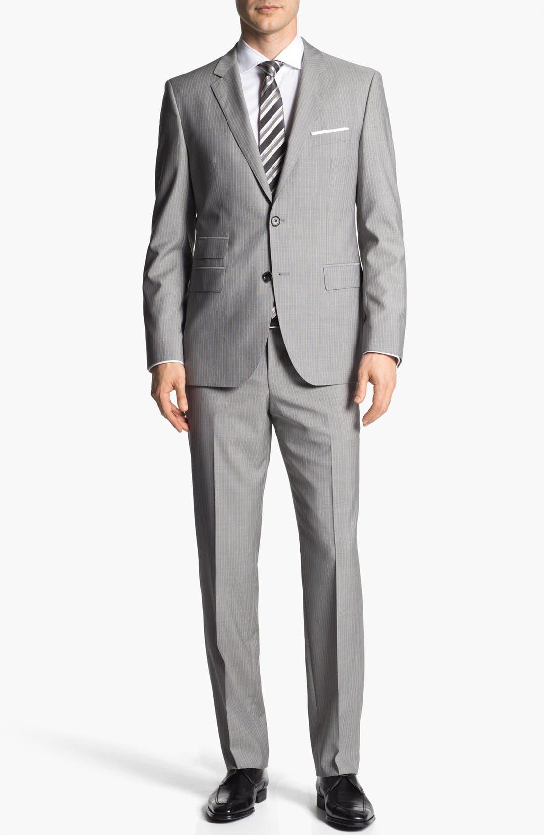 Alternate Image 1 Selected - BOSS HUGO BOSS 'The Sweet/Sharp' Trim Fit Stripe Suit