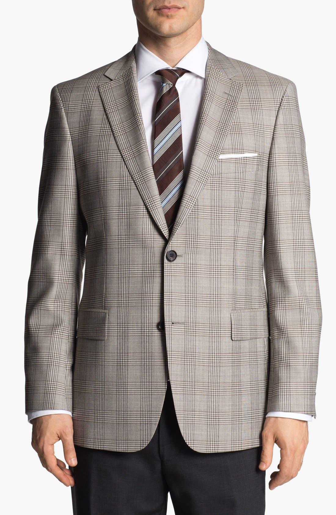 Main Image - BOSS HUGO BOSS 'Pasini' Glen Plaid Sportcoat