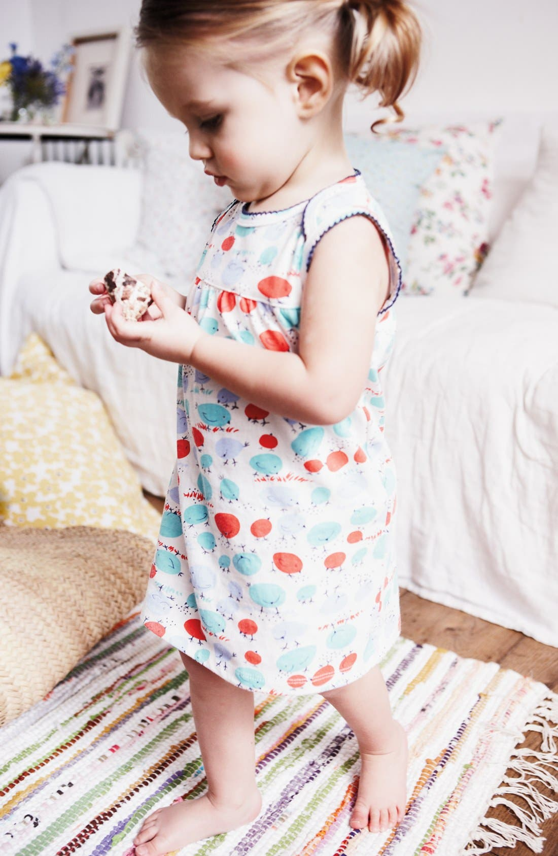 Alternate Image 2  - Mini Boden Print Jersey Dress & Bloomers (Baby)