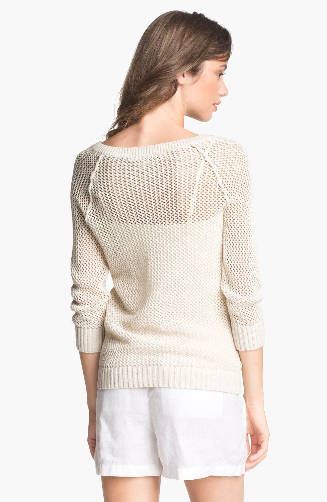 Alternate Image 2  - Caslon® Open Knit Sweater (Regular & Petite)