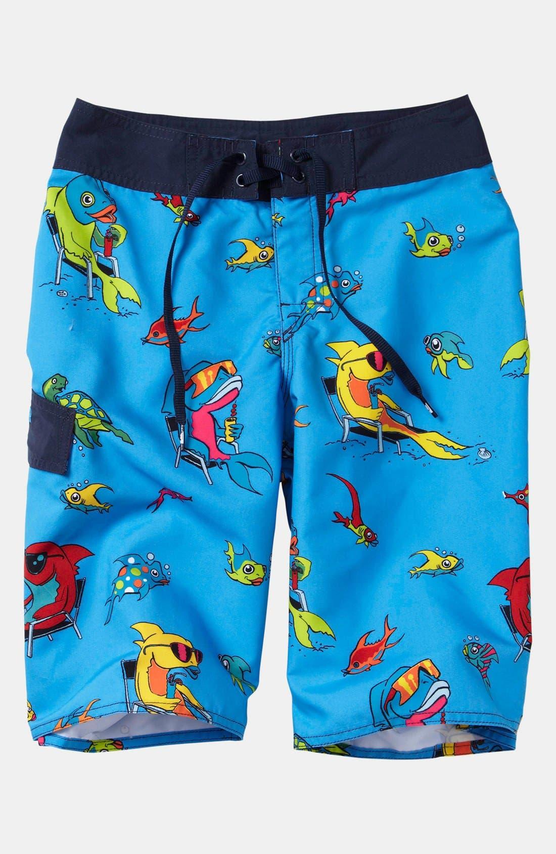 Main Image - Quiksilver 'Fish Tacoz' Board Shorts (Big Boys)