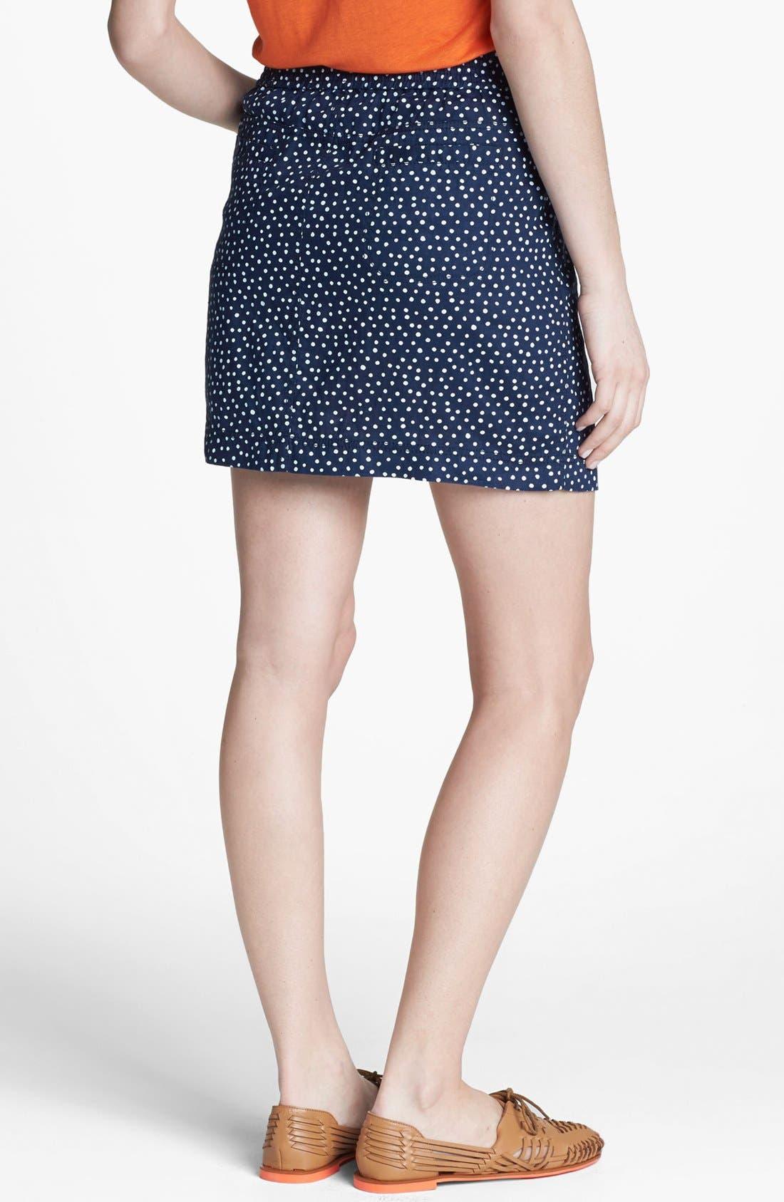 Alternate Image 2  - Caslon® Drawstring Linen Skirt