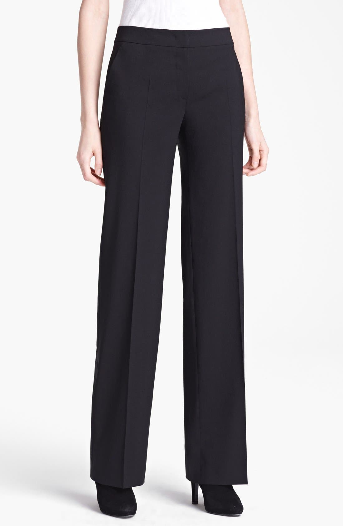 Alternate Image 1 Selected - Armani Collezioni Narrow Leg Stretch Wool Pants