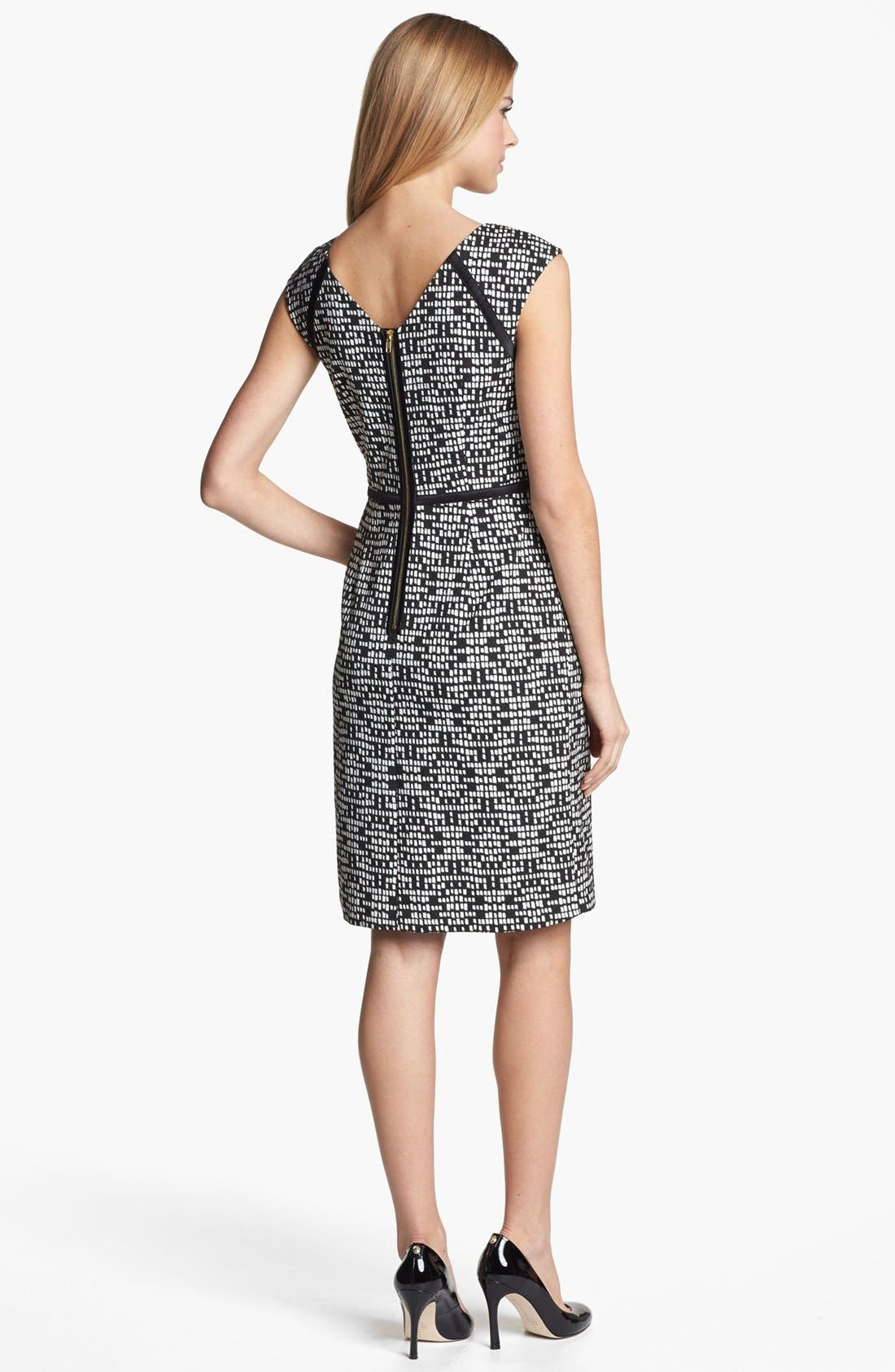 Alternate Image 2  - Adrianna Papell Jacquard Sheath Dress