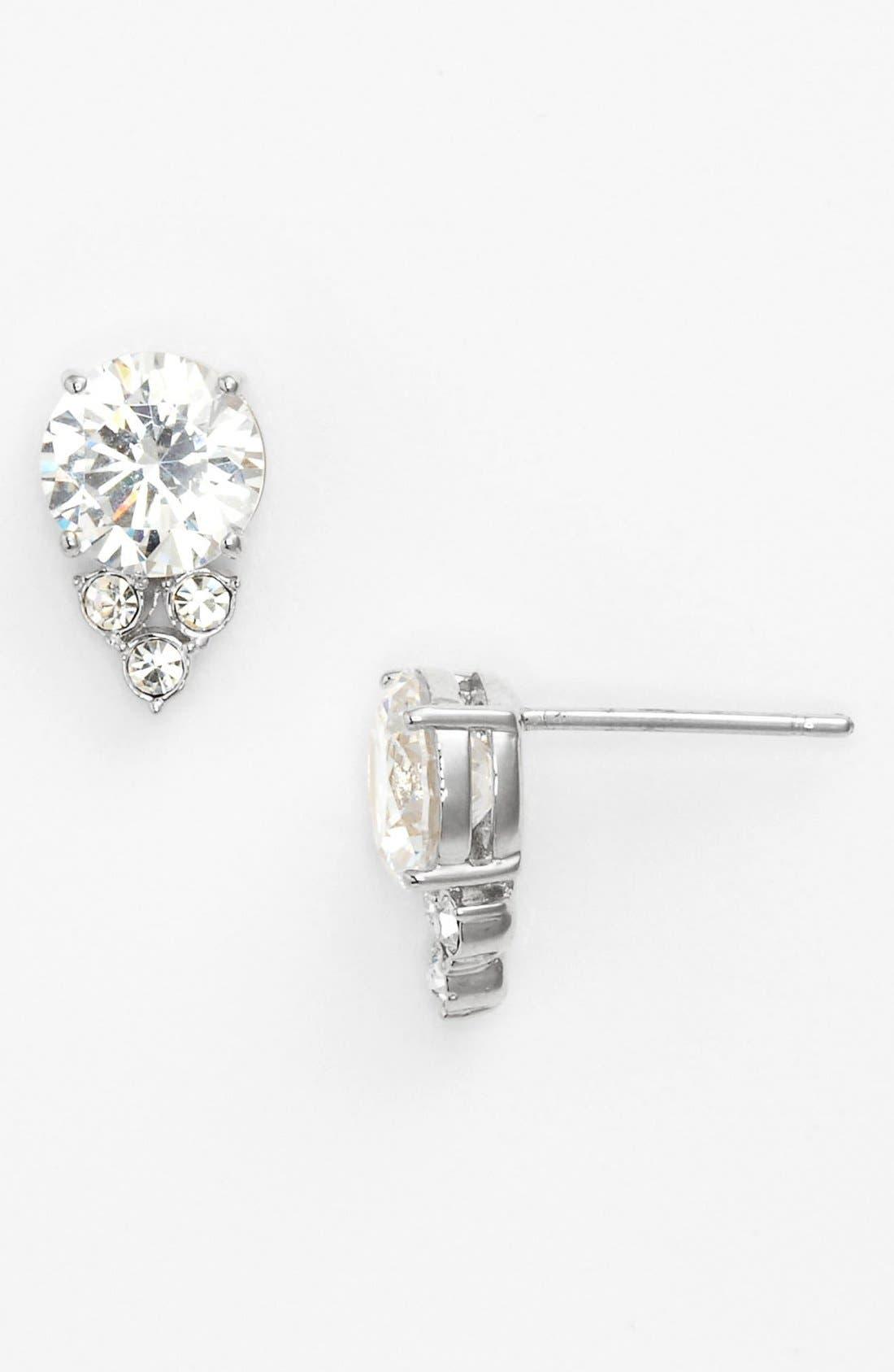 Alternate Image 1 Selected - Nadri Cubic Zirconia Cluster Stud Earrings
