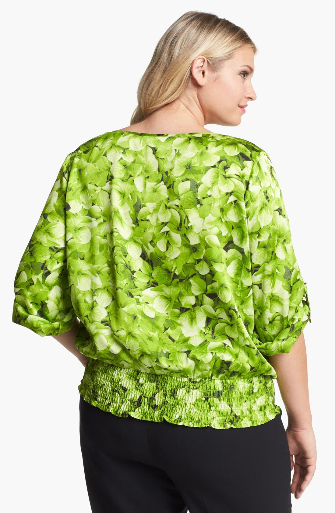 Alternate Image 2  - MICHAEL Michael Kors Hydrangea Print Top (Plus)