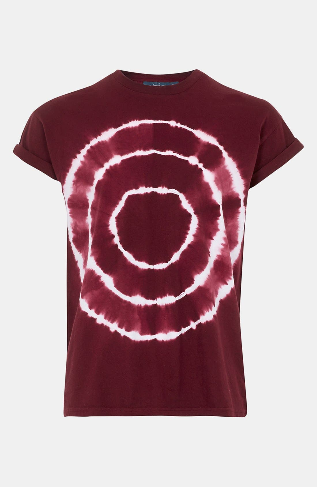 Alternate Image 1 Selected - Topman Circle Tie Dye T-Shirt