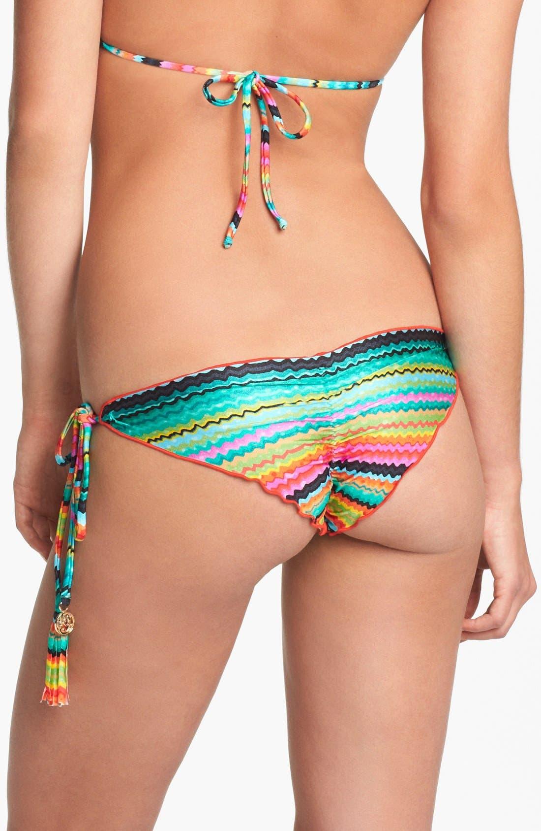 Main Image - Luli Fama 'Hola Verano' Side Tie Bikini Bottoms