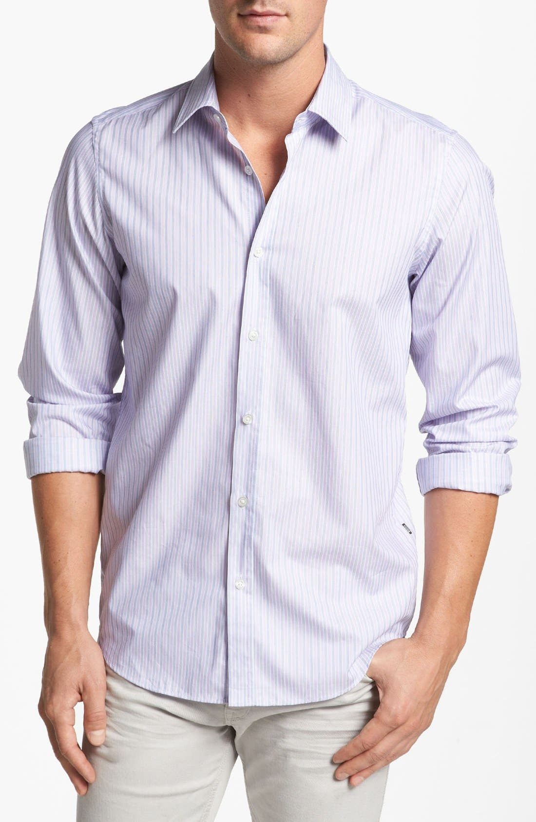 Alternate Image 1 Selected - BOSS HUGO BOSS 'Lucas' Regular Fit Textured Sport Shirt